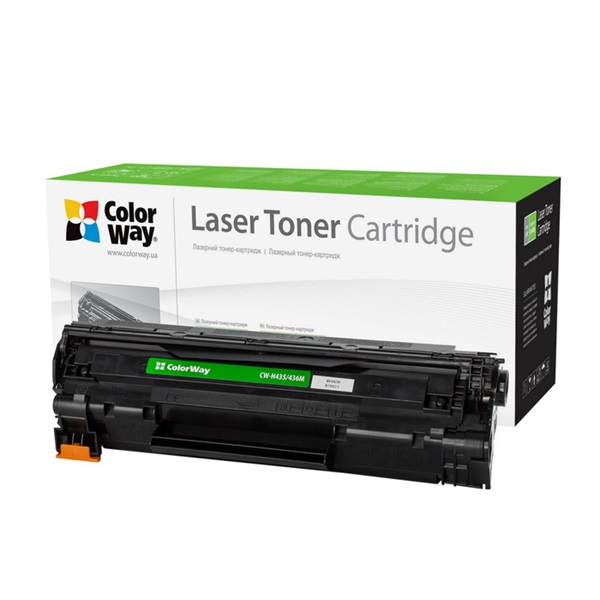 COLORWAY Standard Toner CW-H435/436M, 2000 oldal, Fekete - HP CB435A/CB436A/CE285A; Can. 712/713/725 (CW-H435/436M)