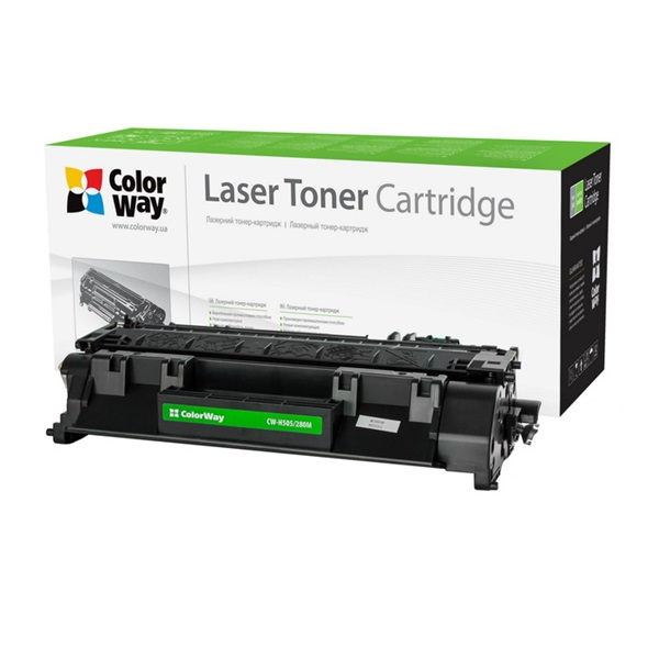 COLORWAY Standard Toner CW-H505/280M, 2700 oldal, Fekete - HP CE505A (05A)/CF280A (80A); Can. 719 (CW-H505/280M)