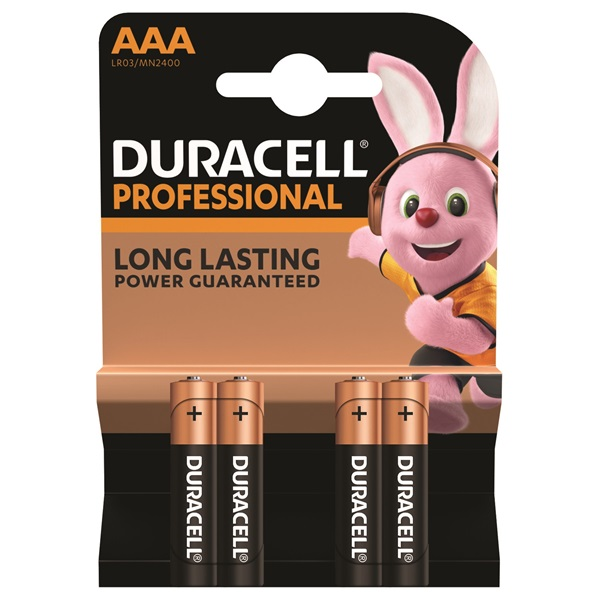 Duracell Professional 4 db AAA (5000394024168)