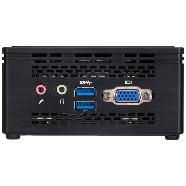 "GIGABYTE PC BRIX Ultra Compact, Intel Celeron N3350 2.4 GHz, HDMI, DSUB, LAN, WIFI, Bluetooth, 2,5"" HDD hely, USB 3.0 (GB-BPCE-3350C)"