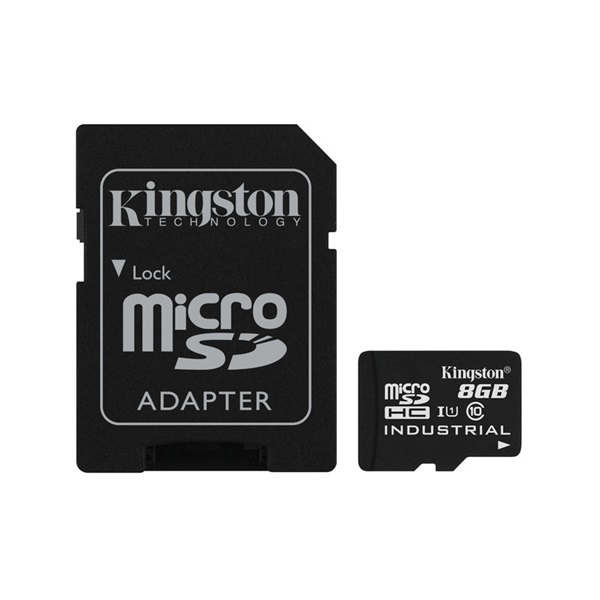 KINGSTON Memóriakártya MicroSDHC 8GB Industrial Temp C10 UHS-I + Adapter (SDCIT/8GB)
