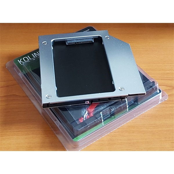 MobileRack notebookba SATA HDD-hez 9,5mm Kolink Optibay