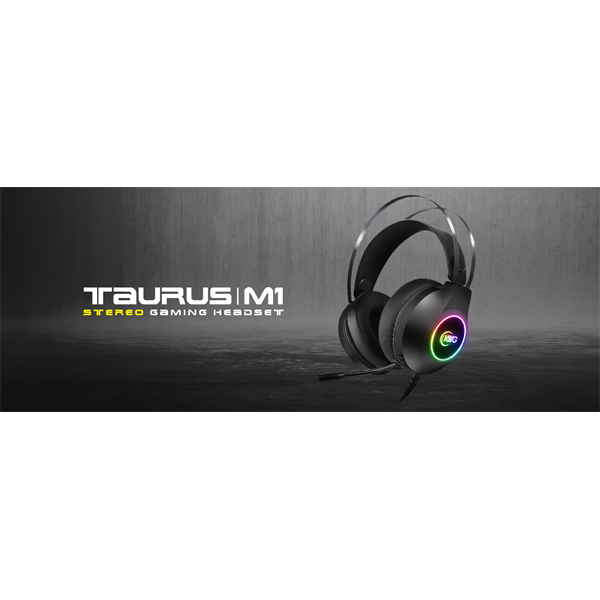 KWG gaming headset TAURUS M1 RGB USB+3,5mm jack (17311-01000-00100-G)