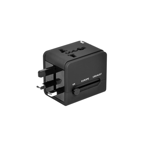 Port Connect Travel adapter 2 USB (900026)