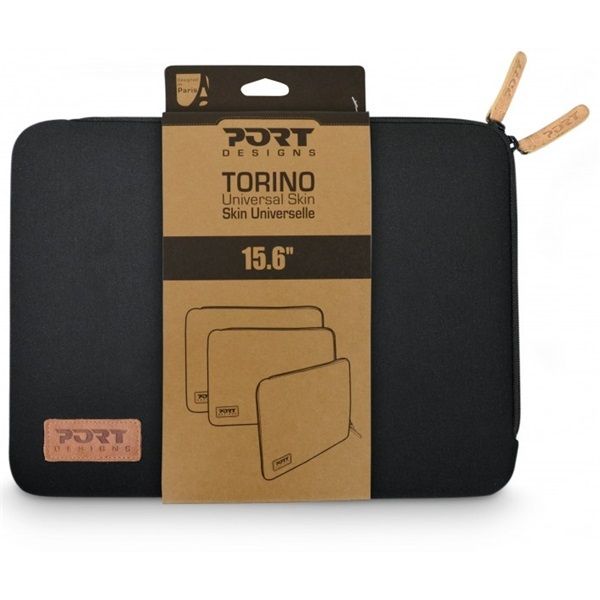 "Port Designs notebook sleeve, Torino, 15,6"" - fekete (140382)"