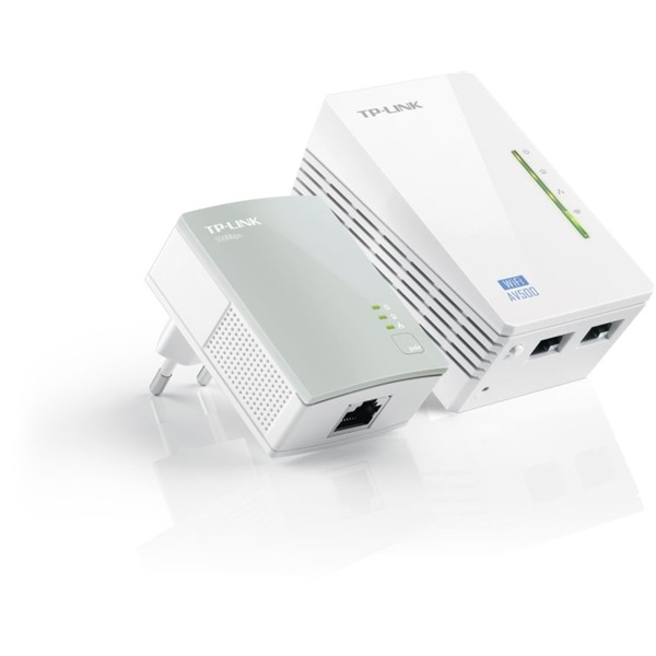 TP-LINK Powerline AV500 2x100Mbps + Wireless N-es 300Mbps, WPA4220 KIT (TL-WPA4220 KIT)