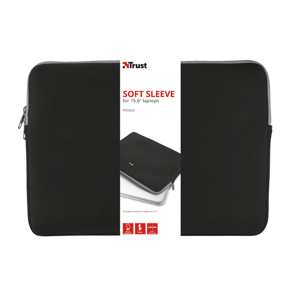 "TRUST Notebook tok 21248, Primo Soft Sleeve for 15.6"" laptops - black (21248)"